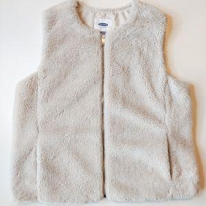 OLD NAVY Fuzzy Zip Up Sherpa Palomino Vest